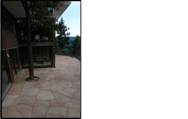 Dry Laid Red Flagstone Patio
