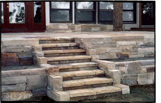 Dry Laid Flagstone Patio And Steps